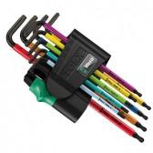 Set Chiavi a L 967 SPKL/9 Torx Bo Multicolour Wera