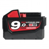 Batteria 18 V 9,0 Ah MILWAUKEE Redlithium-ion M18