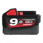 Batteria 18 V 9,0 Ah MILWAUKEE Redlithium-ion M18