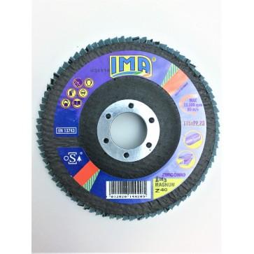 Dischi Abrasivi doppia lamella 10 Pz 115 x 22 Z40 FIB 80L BLU IMA Z11F040M20PM