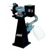 Smerigliatrice combinata mola/spazzolae trifase 2200W Femi con base e aspirazione con mole ecologica 200/m