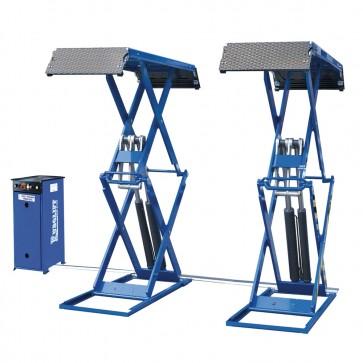 Sollevatore Per Auto A Doppia Forbice Ribassato Monofase Elettroidraulico Per Auto 3200kg Zavagli Z25m