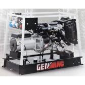 Generatore di corrente portatile Avv. Elet. diesel monofase 12Kw Genmac Minicage RG13000YEO**