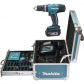 Trapano avvitatore Set 96 accessori Makita 2 batterie 3A 18V DHP453RFX2
