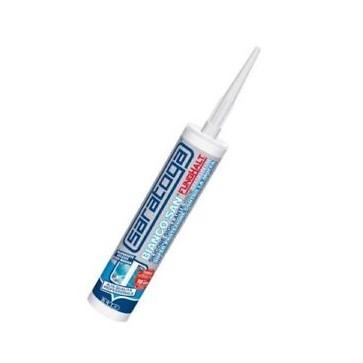 Silicone per sanitari Saratoga Bianco antimuffa cartuccia 310 ml 85282001