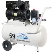 Compressore elettrico oilless silenziato FIAC Super Silent 59 db 0,75 HP 24 lt