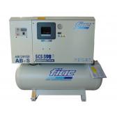 Compressore Elettrico a Pistoni Insonorizzato FIAC SCS 598/300 +Essiccatore ABS Serbatoio 270 Lt  5,5 HP