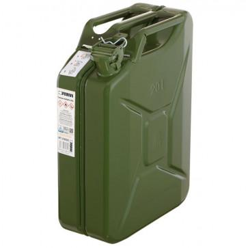 Tanica in metallo Fervi 0189/20C omologata UN per trasporto carburanti fino a 20 litri
