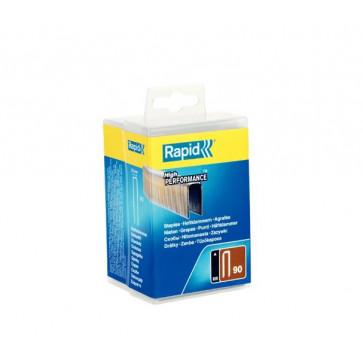 Graffe Rapid 90/25mm dorso stretto alte prestazioni in acciaio zincato resinato