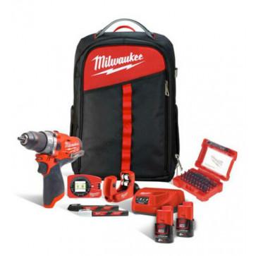 Kit FUEL MILWAUKEE M12 FPD-202XH Trapano + Accessori per Termoidraulico