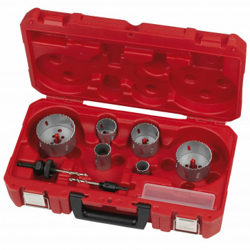Set Seghe a Tazza MILWAUKEE CONTRACTOR 10 Pz