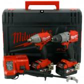 Kit MILWAUKEE M18FPP2C2-502X Trapano M18 FPD2 + Avvitatore a Impulsi M18 FIWF12