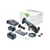 Sistema di taglio a mano libera a batteria FESTOOL DSC-AGC 18-125 FH Li 5,2 EBI-Plus