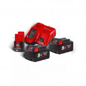 Kit Batterie più caricatore MILWAUKEE 18 V 5.0 Ah M18 NRG-502 RedLithium-Ion