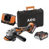 Smerigliatrice Angolare a Batteria AEG BEWS18-115BLLI-502C 18V 2X5.0AH