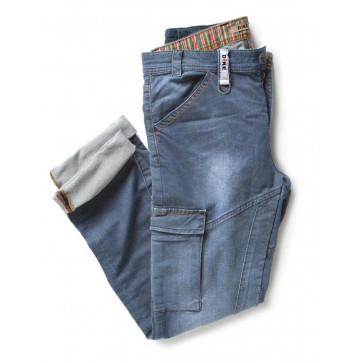 PANTALONE JEANS ANTINFORTUNISTICO LUNGO PARTNER DENIM DIKE STRETCH DCS