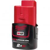 Batteria RedLithium-ion M12B2 Milwaukee 12V 2Ah