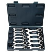 Set 12 Chiavi Combinate KS TOOLS a Cricchetto Reversibile Rev. Corte 8-19mm