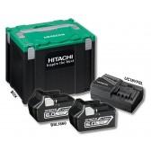 Kit Alimentazione Hitachi HFA90402 2 Batt 18V 6Ah + Caricabatterie + Box