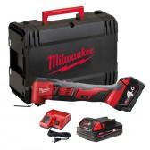 Utensile Multifunzione Milwaukee M18 BMT-421 Batterie da 18 V 4.0 Ah + Valigetta