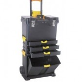 Trolley Porta Attrezzi in ABS Spin 3 Scomparti 2 Ruote