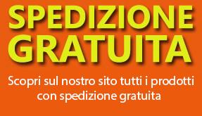 Spedizione gratuita per ordini superiori a duecento Euro